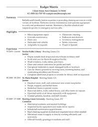 Resume For Custodian Sample Resume For Custodian Maintenance Worker Sample Custodian
