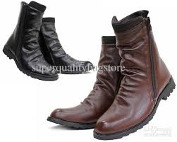 zipper boots s hotsale s shoes ankle boots black brown wrinkles side