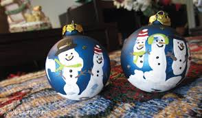 handprint snowman ornament craft for