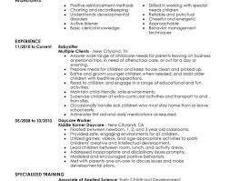 resume babysitting work experience resume amazing babysitter