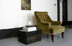 Victorian Armchair Victorian Armchair With A Buttoned Bolster Scroll The Hoarde