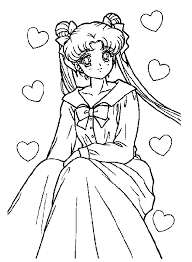 animations 2 coloring pages sailor moon