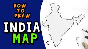 how to draw india map step by step free hand youtube
