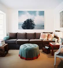 Accent Pillows For Brown Sofa by Interior Decoration Eclectic Art Deco Living Room With Long Dark