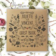 personalised wedding guest book vintage rustik personalised wedding guest book paper cards