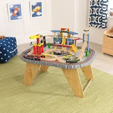 amazon com kidkraft 17564 0 transportation station train set and