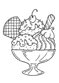 print coloring image yummy ice cream embroidery and coloring