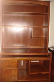 ethan allen cherry computer desk hutch u0026 chair ebay