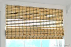 Bamboo Curtains For Windows How To Install Bamboo Blinds Cleverly Inspired