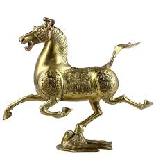horse statues for home decor chinese fengshui handmade brass flying horse with swallow statue