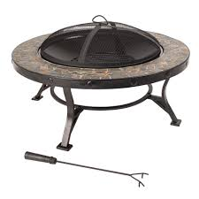 Slate Firepit Slate Pits Outdoor Heating The Home Depot