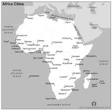 africa map black and white free africa cities map black and white cities map of africa
