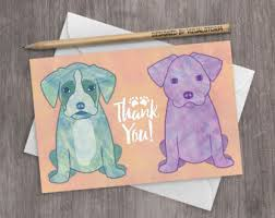 funny dog thank you card nothing thank you cute dog