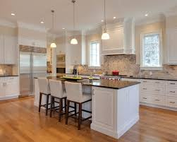White Kitchen Cabinets With Granite Countertops White Kitchen With Brown Granite Countertops Google Search