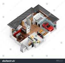energy saving house cutaway view smart house this house stock illustration 365317895