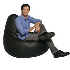 bean bag factory black vinyl bean bag chair skin cover