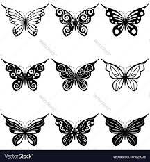 set of butterflies royalty free vector image vectorstock