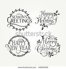merry happy new year happy stock vector 348680360