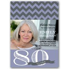chicago chic any color 80th birthday invitations paperstyle