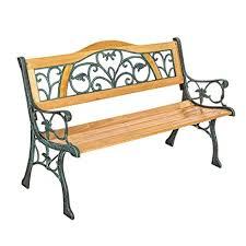 panchine da giardino in ghisa tectake panchina in ghisa e legno peso totale 24 5 kg panca
