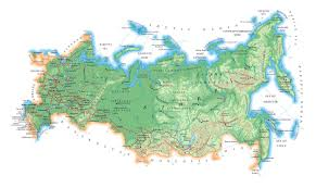 european russia map cities large elevation map of russia with roads major cities and