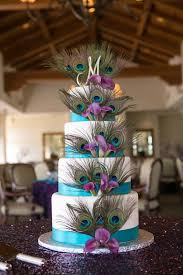 peacock wedding peacock wedding cake with sparkley tablecloth the most