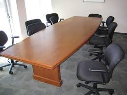 10 x 4 conference table 10 x 4 boatshape table used office furniture dallas preowned