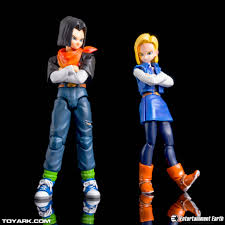 android 17 and 18 tamashii nations s h figuarts android 17 android 18 vs trunks