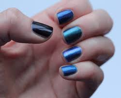 fundamentally flawless blue ombre nails