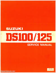1978 1981 suzuki ds100 ds125 motorcycle service manual