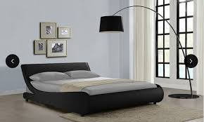 galactic curved bed frame or bed frame with memory foam mattress