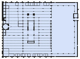 mosque floor plan file floor plan of mosque of córdoba svg wikimedia commons