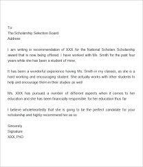recommendation letter for college scholarship sample deboline com