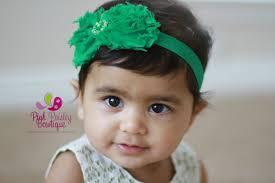 s headbands st patricks day green baby headband baby girl headband