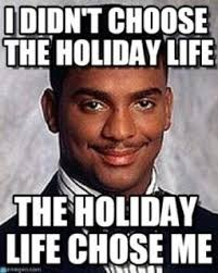 Holiday Meme - how to survive and maybe even enjoy solo travel during the holidays
