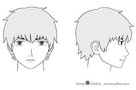 how to draw anime and manga male head and face anime outline