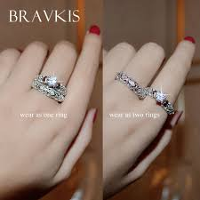 vintage crystal rings images Bravekiss vintage crystal bridal ring set for women filigree jpg