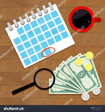 sales salary guide salary money concept every month cartoon stock vector 725973463