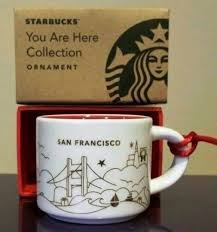 mug ornament starbucks you are here mug san francisco kitchen remix