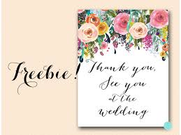 Bridal Shower Signs Free Floral Thank You See You At The Wedding Sign Magical Printable