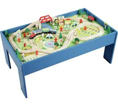 wooden train set table buy chad valley wooden table and 90 piece train set toy trains argos