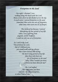 footprints in the sand gifts footprints in the sand strength poem a4 keepsake gift