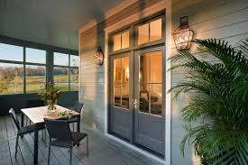 Patio Doors Cincinnati Jeld Wen Wood Swinging Patio Doors With Matching Transoms