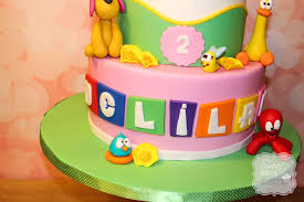 pocoyo cake toppers pocoyo themed birthday cake cakecentral