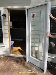 Exterior Door Install How To Replace An Exterior Door Part 3