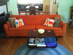 Rust Sofa Orange Couch Best 25 Orange Sofa Ideas On Pinterest Orange Sofa