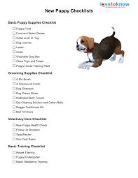 new puppy checklist lovetoknow