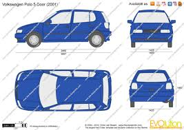 volkswagen polo 2002 the blueprints com vector drawing volkswagen polo 5 door
