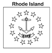 state flag of rhode island coloring page color luna