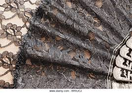 black lace fan lace fan stock photos lace fan stock images alamy